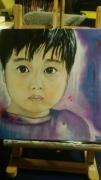 tableau personnages enfant portrait garcon asiatique : petit garçon asiatique