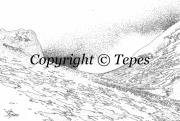 photo paysages paysage blanc noir montagne : Incurvation