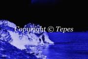 photo paysages cote bleu nuit noir ocean : Mystères