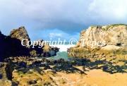 photo paysages cote rochers eau ocean : Le passage
