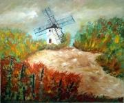 tableau paysages moulin bourgogne santenay vigne : LE MOULIN SORINE