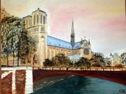 tableau architecture notre dame paris france libertee : NOTRE DAME