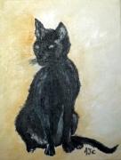 tableau animaux chat noir felin animaux : CHAT NOIR