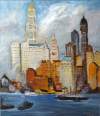 New-York ''East river 1920 ''