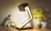 sculpture abstrait sculpture lumineuse lampe bois desicgn lampe led : munilo