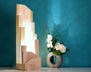 deco design autres lampe design lampe de luxe lampe bois lampe led : KABURA
