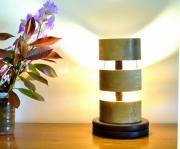 sculpture abstrait sculpture lumineuse lampe led lampe design lampe bois : quelito
