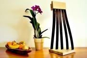 sculpture abstrait sculpture lumineuse lampe led lampe design lampe bois : Parino