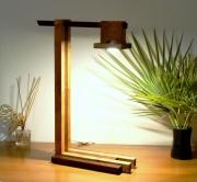 deco design abstrait sculpture lumineuse lampe led lampe design lampe bois : rivello