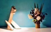 sculpture abstrait sculpture lumineuse lampe design lampe bois lampe led lampe luxe : lasaro