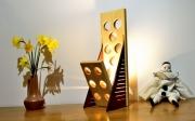 deco design abstrait sculpture lumineuse lampe design lampe bois lampe ledlampe luxe : halito