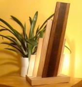 sculpture abstrait lampe bois lampe design lampe haut de gamme lampe led : devaro