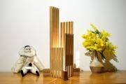 sculpture abstrait lampe bois lampe design lampe sculpture lampe led : ebrino