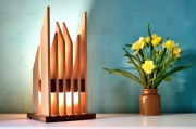 deco design abstrait sculpture lumineuse lampe design lampe bois lampe led : jubelo