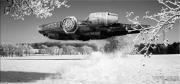 art numerique personnages starwars neige art vinz helin : Millennium Falcon Winter