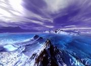 tableau paysages bleu monde glace froid : Froid 2