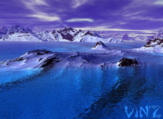 TABLEAU PEINTURE mer océan glace froid Paysages  - Antarctique