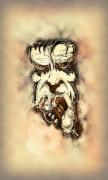 tableau personnages homme peinture numerique yeux : Homme V3
