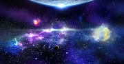 tableau paysages espace space etoile star : Espace Lointain  Far space