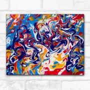 tableau abstrait pouring tourbillons liquid art : effusion de couleurs, peinture abstraite joyeuse