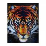 tableau animaux felin regard sauvage tiger : TIGRE de feu peinture animalière