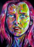 tableau personnages visage woman beaute feminite : Teresa portrait feminin