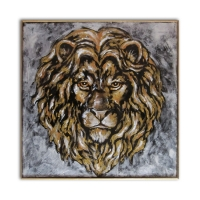 Lion d'or - Tableau animaux