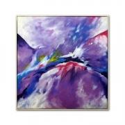 tableau abstrait ciel astre zen atmosphere : Tableau abstrait Nébula