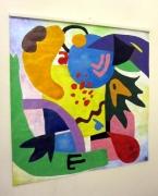 tableau abstrait carre formes assemblage geometrique : Ballade