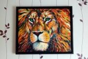 tableau animaux felin lion zen animaux : Lion de feu