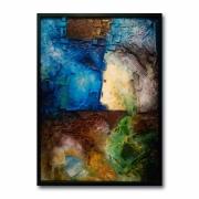 tableau abstrait relief texture volume art contemporain : Matière première