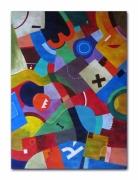tableau abstrait cubisme vinadelle suprematisme geometrique : Entropie M10