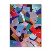 tableau abstrait cubisme contemporain geometrique graphique : Entropie M14 Peinture abstraite