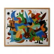 tableau abstrait moderne deco contemporain graphique : Entropie M16 tableau abstrait