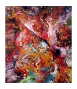 tableau abstrait emotion multicolore abstraction pas cher : Tableau abstrait - Lyric