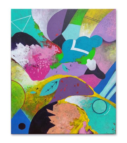 TABLEAU PEINTURE abstraction moderne maison du monde déco Abstrait Acrylique  - Entropie S44 tableau abstrait