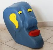 sculpture personnages sculpture bois peint : tête