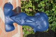 sculpture personnages sculpture tete peinte : tête