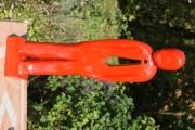sculpture personnages sculpture peinte bois : bonhomme