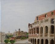 tableau architecture rome colisee italie antiquite : Rome - le Colisée.