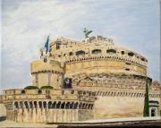 tableau architecture rome sant angelo italie : Rome - castel Sant'Angelo