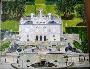 tableau architecture linderhof baviere chateau louis ii de baviere : Linderhof