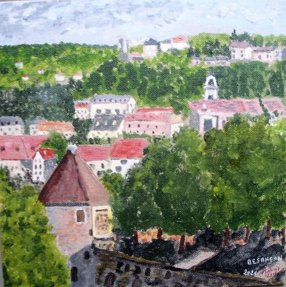 TABLEAU PEINTURE Besançon Doubs Villes Acrylique  - Besançon
