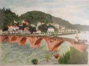 tableau villes heidelberg allemagne pont riviere : Heidelberg