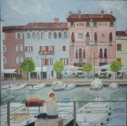 tableau villes desenzano lac de garde italie port : Desenzano