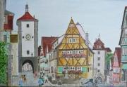 tableau villes rothenburg baviere allemagne : Rothenburg
