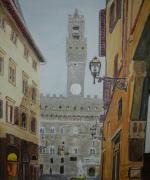 tableau architecture italie florence palazzo vecchio : FLORENCE