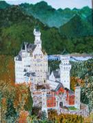 tableau architecture neuschwanstein baviere : Château de Neuschwanstein
