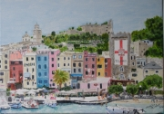tableau villes italie ligurie porto venere cinque terre : Porto Venere
