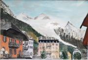 tableau villes chamonix montblanc neige montagne : Chamonix